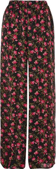 Womens Floral Print Trousers By