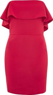 Womens Frill Front Bodycon Mini Dress By Oh My Love
