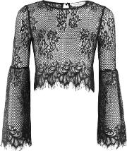 Womens Lace Bell Sleeve Blouse By Oh My Love
