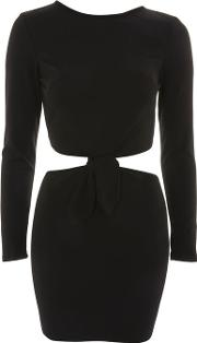 Long Sleeve Cut Out Bodycon Mini Dress By Oh My Love