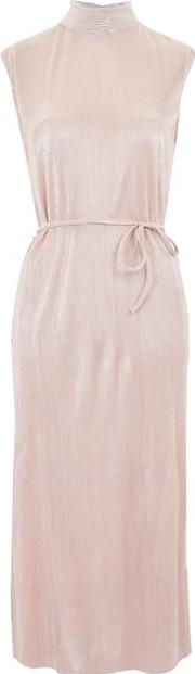 Womens Pleated High Neck Midi Dress By Oh My Love