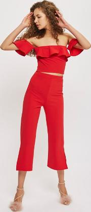 Womens Red Culottes By