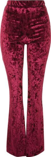 Womens Velvet Flare Trousers By Oh My Love