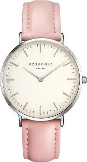 The Bowery White Pink Watch