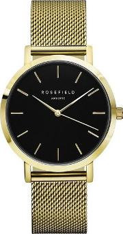 The Mercer Black And Gold Watch