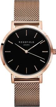 The Mercer Black And Rose Gold Watch