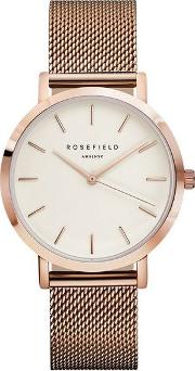 The Mercer White And Rose Gold Watch