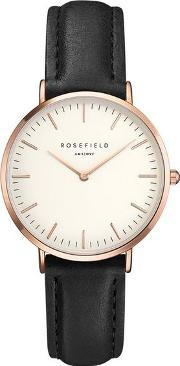 The Tribeca White And Black Rose Gold Watch