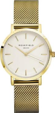 The Tribeca White And Gold Watch