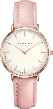 The Tribeca White And Pink Rose Gold Watch