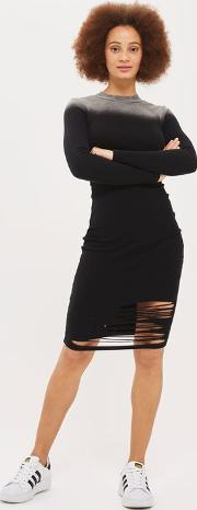 Distressed Ombre Bodycon Dress By