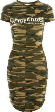 Womens Camouflage Print Dress By Sixth June
