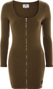 Womens Zip Front Bodycon Dress By Sixth June
