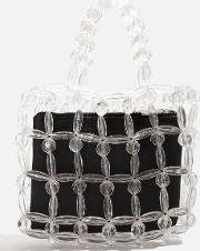 Clear Beaded Tote Bag