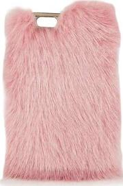 Womens Pink Candy Faux Fur Phone 6 Case By Skinnydip