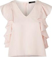 Womens Erina Striped Open Back Top By