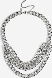 3 Chain Row Necklace