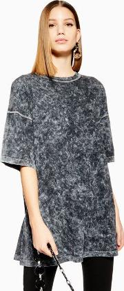 Acid Wash Tunic Top