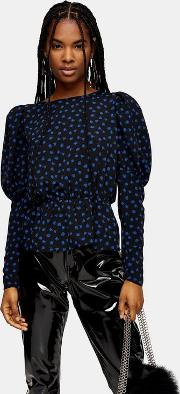 Blue Rose Drama Sleeve Blouse