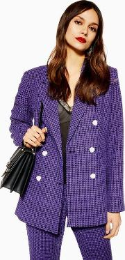 Boucle Double Breasted Blazer