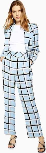 Checked Slouch Trousers