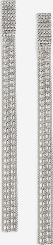 Crystal Long Rope Drop Earrings