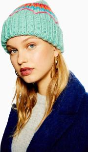 Embroidered Retro Beanie