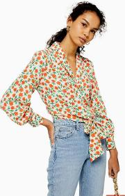 Floral Knot Front Shirt