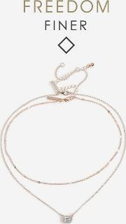 Freedom Finer Rose Gold Look Necklace