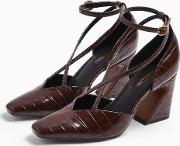 Ghost Brown Cross Front Court Shoes