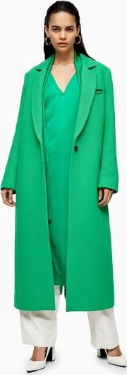 Green Coat With Linen