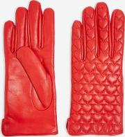 Heart Quilted Touchscreen Gloves