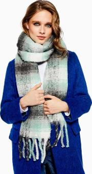Heavy Blurred Check Scarf