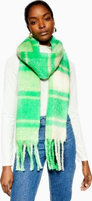 Heavy Plaid Bright Scarf