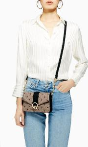 Madrid Monochrome Print Cross Body Bag