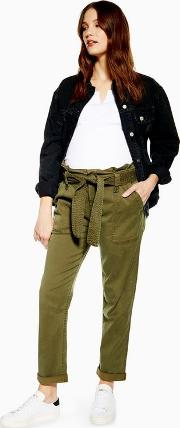 Maternity Belted Utility Trousers