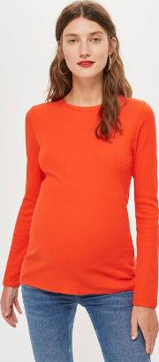 Maternity Long Sleeve Scallop Top