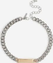 Mixed Metal Link Chain Necklace