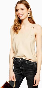 Petite Ring Detail Camisole Top