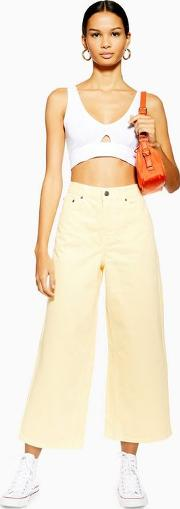 Petite Yellow Cropped Jeans