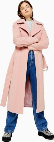 Pink Herringbone Coat