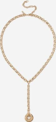 Ring Lariat Necklace