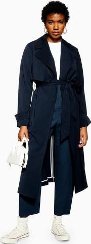 Silky Crepe Duster Coat