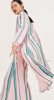 Striped Duster Coat