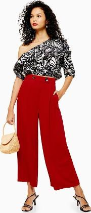 Tall Cropped Wide Leg Trousers