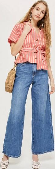 Tall Light Blue Wide Leg Jeans