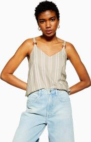Tall Stripe Cami With Linen