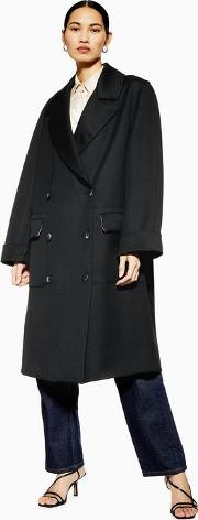 Unlined Double Breasted Coat