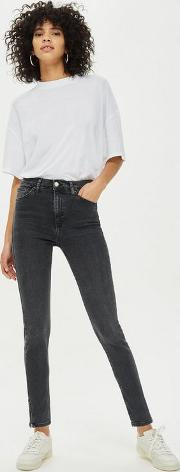 Washed Black Zip Hem Jamie Jeans