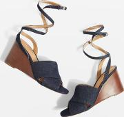 Whirl Cross Strap Wedges